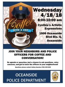 Community event Coffee with a cop