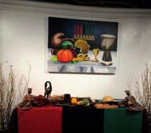 commissioned Kwanzaa painting for the Worldbeat Cultural Center in Balboa Park San Diego