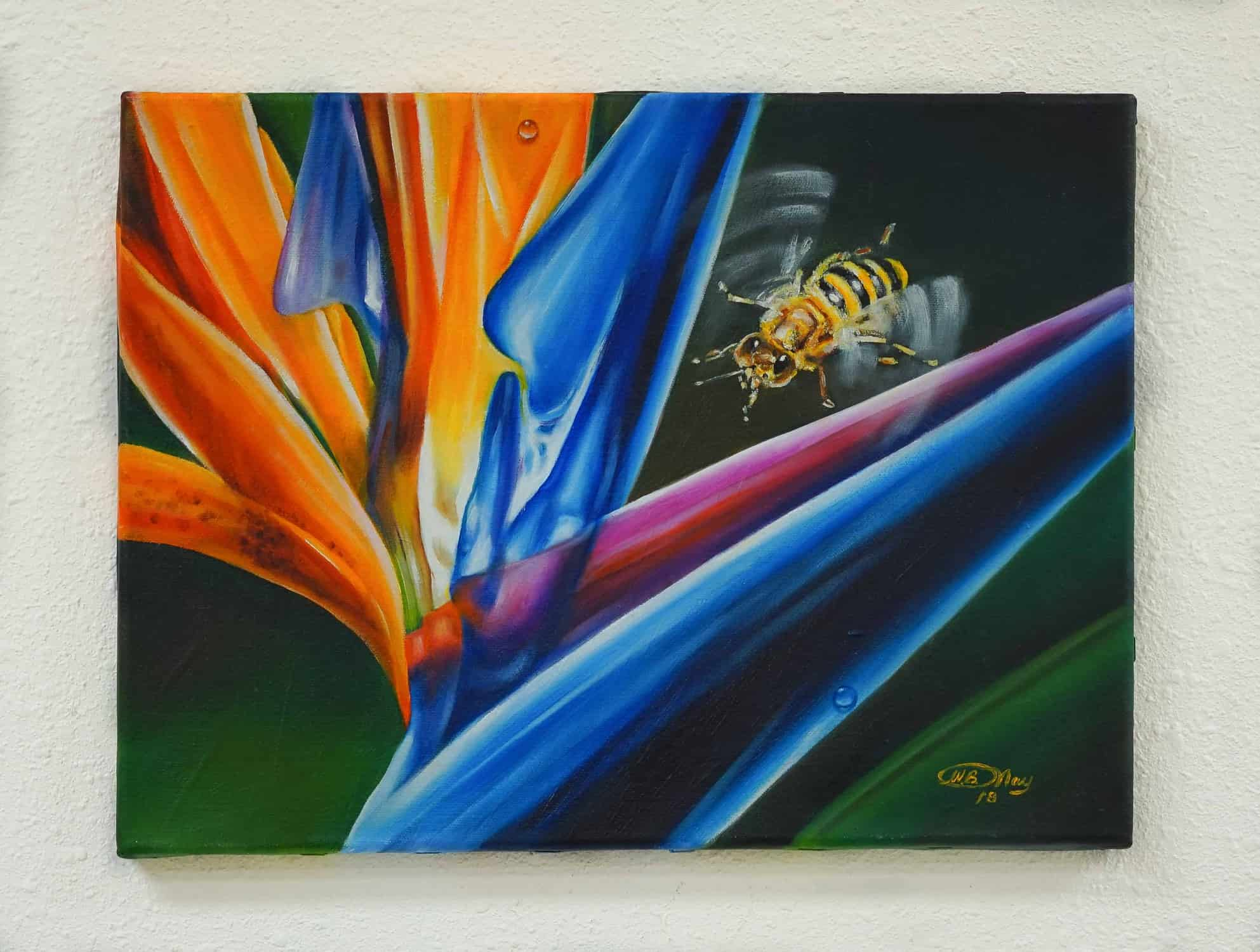 Bird of Paradise with a Bee