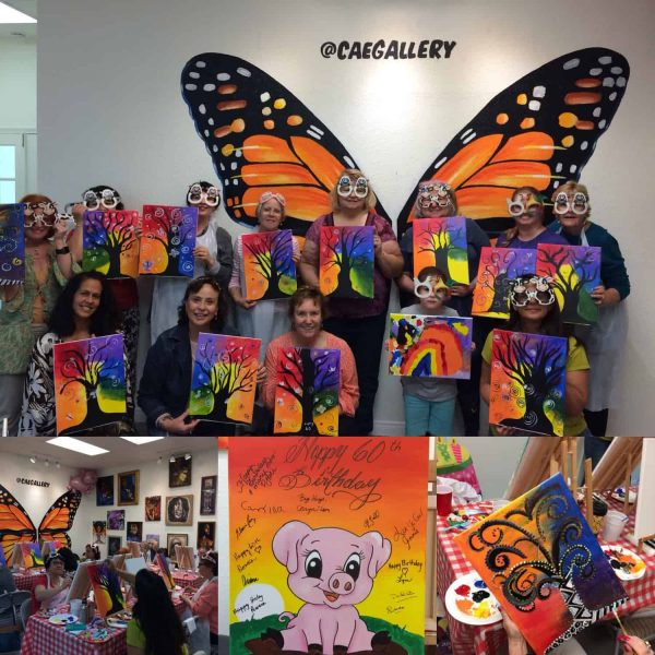 Caryn Leventhal's custom private paint party